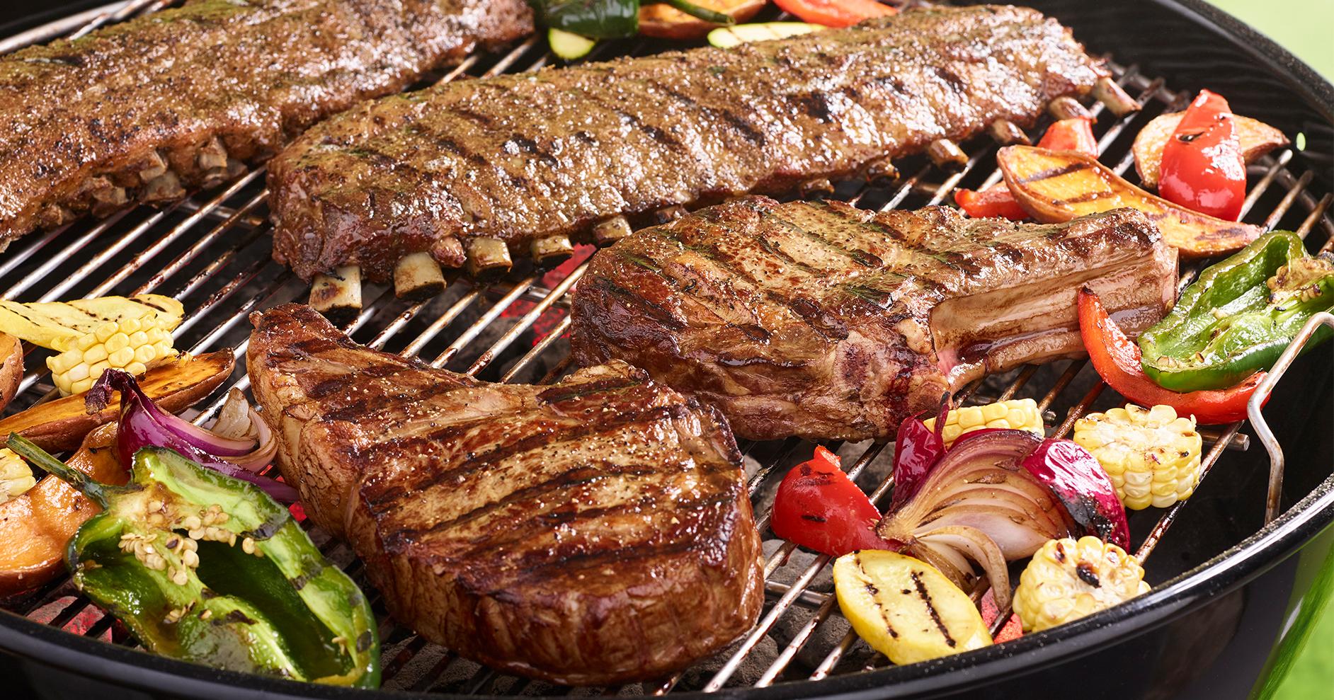 Grilled Ribeye Steaks W Four Pepper Rub Open Prairie Natural Meats